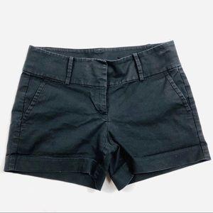 Ann Taylor black chino city shorts 4